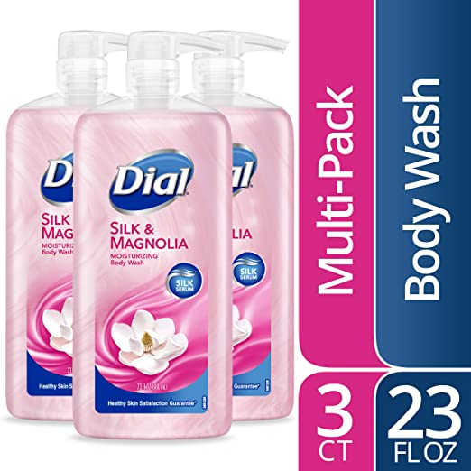 Dial Body Wash, Silk & Magnolia, 23 Oz (Pack Of 3)