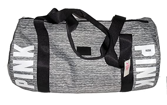 8e238575e4 Image Unavailable. Image not available for. Color  Victoria s Secret PINK  Small Marl Grey Gym Duffle Bag