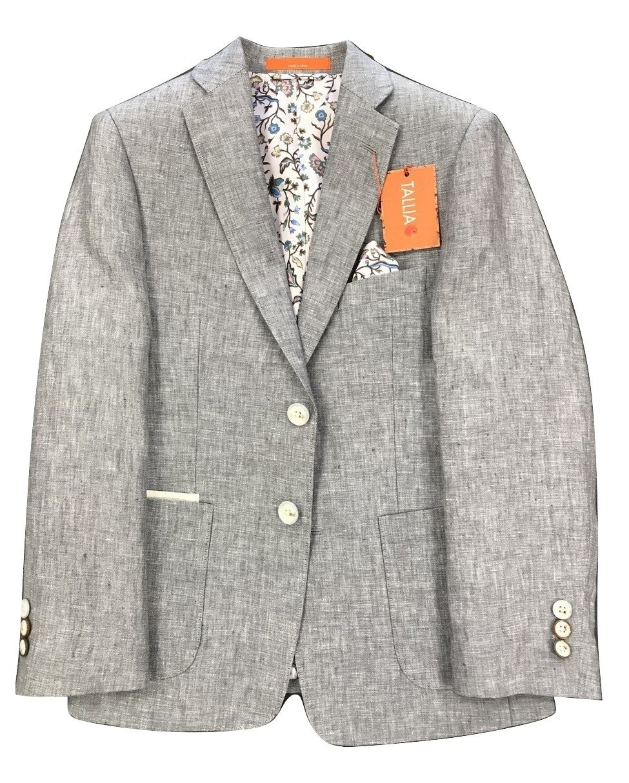 tallia Big Boys Linen Blazer (Grey, 14)
