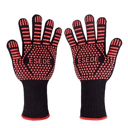 Amazon.com: eseoe barbacoa guantes de horno, barbacoa ...