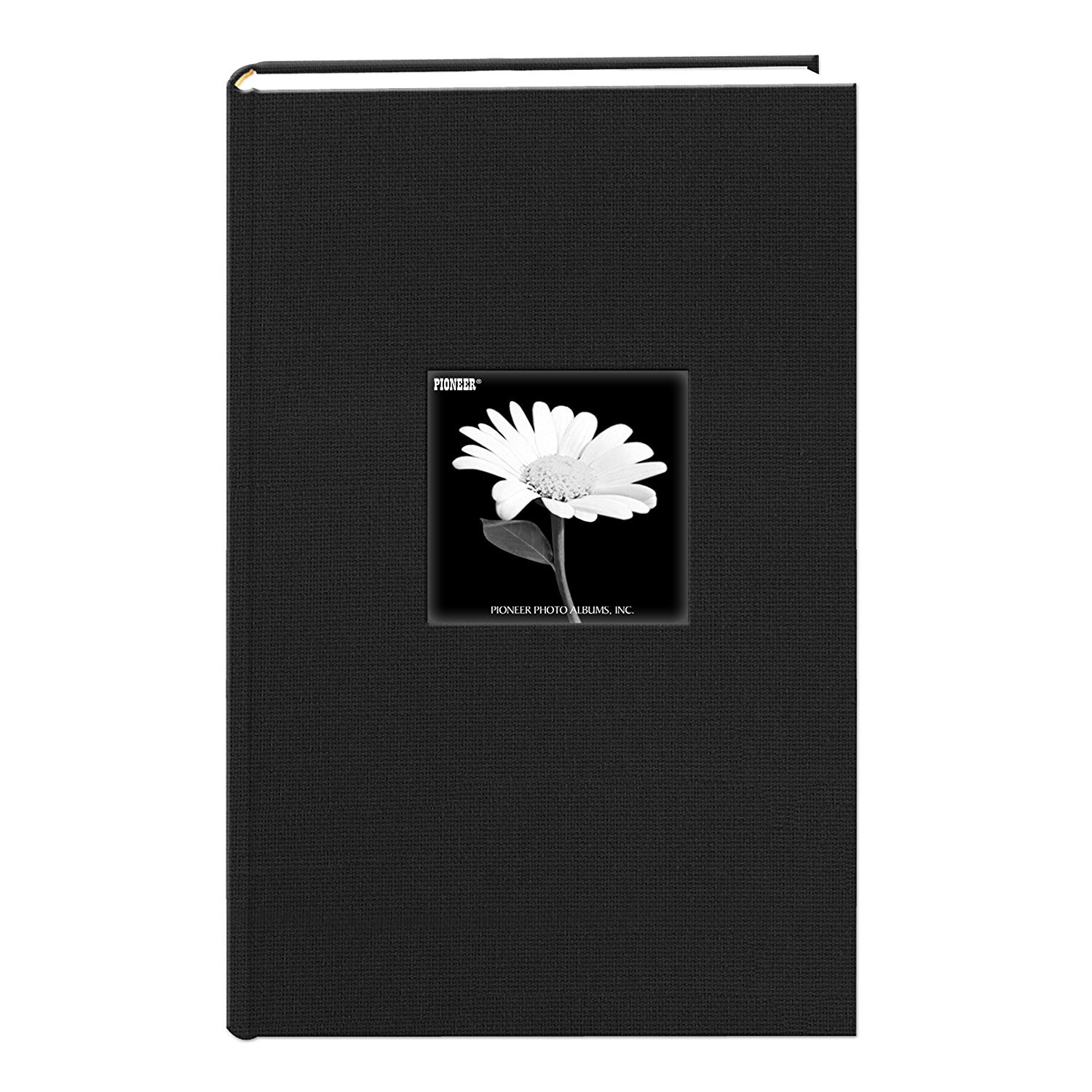 Fabric Frame Cover Photo Album 300 Pockets Hold 4x6 Photos, Deep Black Pioneer Photo Albums DA-300CBF/DB