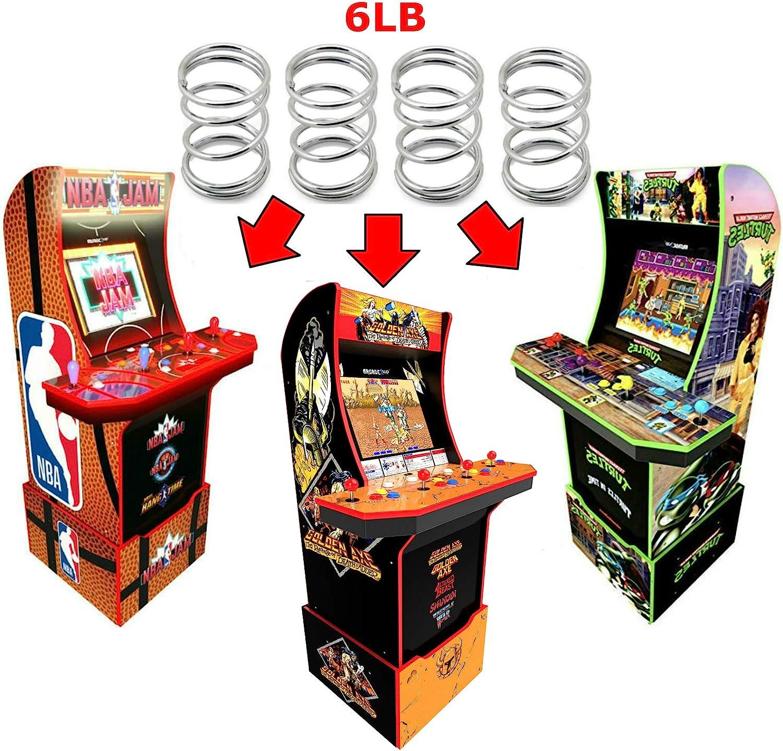 Alvatron Set of 4 Joystick 6lb Tension Springs for Arcade1up, AtGames Legends Ultimate Arcade, Pandora's Box, Sanwa JLF, Golden Axe NBA JAM TMNT BurgerTime Mortal Kombat 2 Final Fight Street Fighter 2