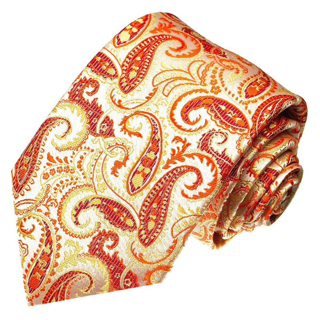 /marchio cravatta in 100/% seta/ /25001 /Arancione salmone rosso Paisley/ LORENZO CANA/