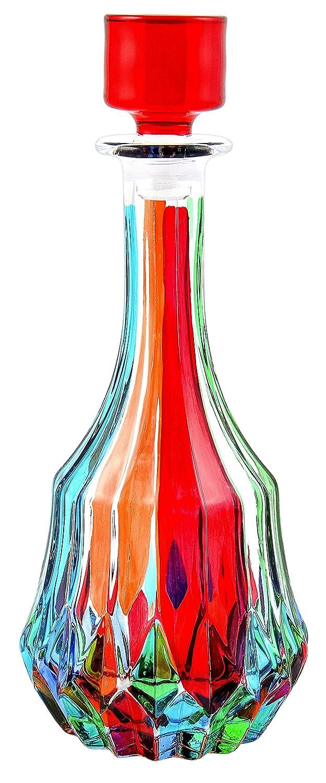BOTTIGLIA ROTONDA ADAGIO Botella Cristal Mano Colores Pintadas Tradición Venecia: Amazon.es: Hogar