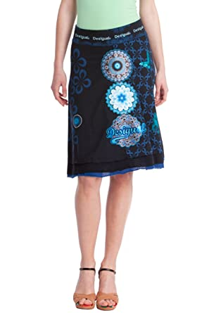 Desigual Falda Oia Azul Marino S: Amazon.es: Ropa y accesorios