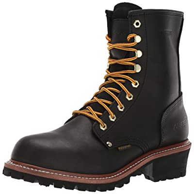 "Amazon.com | 9"" Super Logger Soft Toe Boots for Men, Leather Goodyear Welt Construction & Utility Footwear, Durable and Long Lasting Work Shoes, Lug Sole 