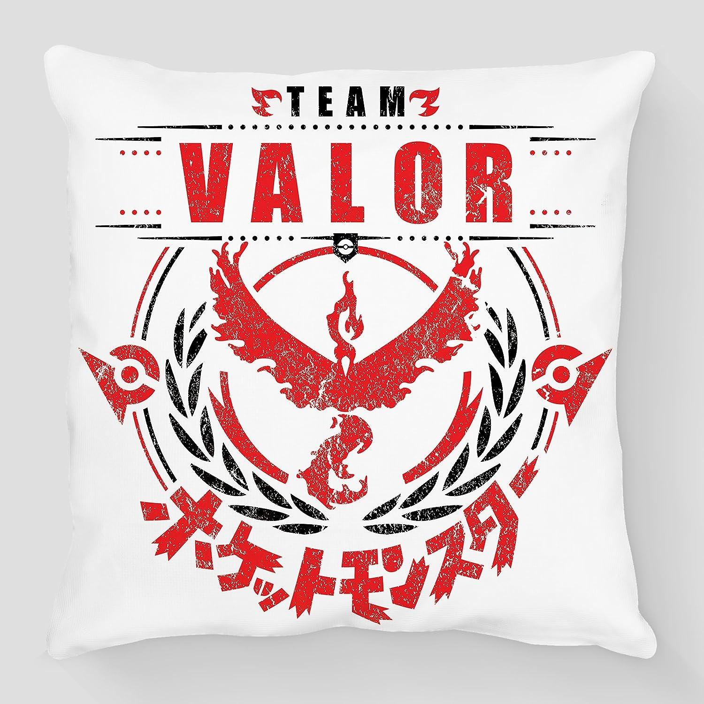 Cojín Pokémon Go Team valor/valor, selección rojo représenté ...