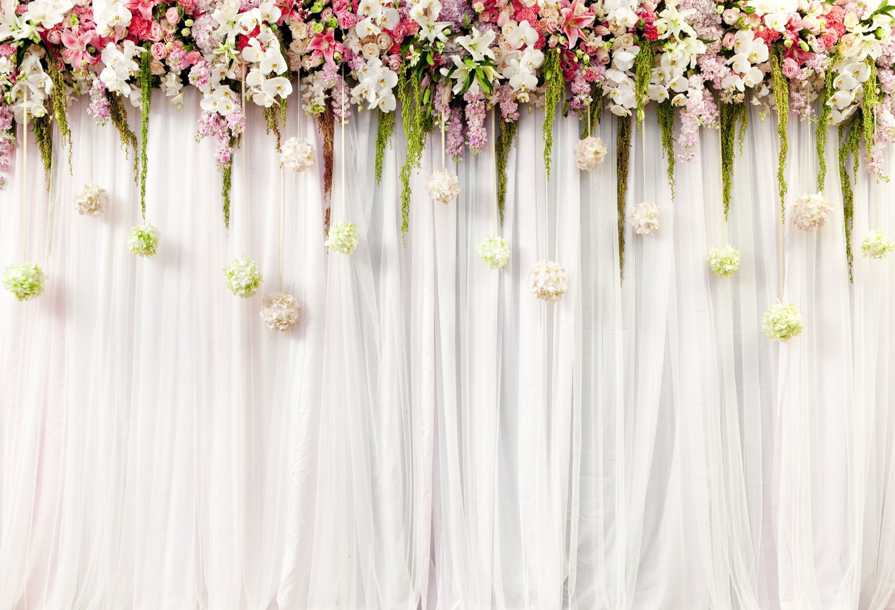 Kate Wedding Photo backdrops White Wedding Party Backgrounds for Photography Studio Flower Backdrop 10x10ft(3x3m) by Kate