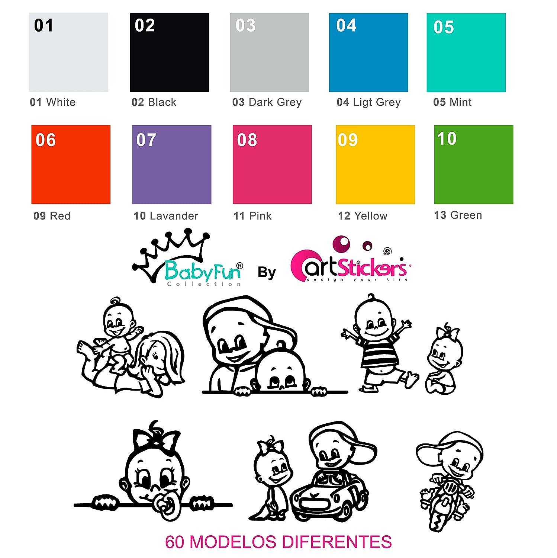 regalo sorpresa 9cm x 16,5 cm Rosa 10/colori a scelta Adesivo Beb/è a bordo da bimba,/collezione Babyfun Artstickers/®