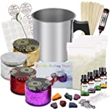 DIY Candle Making Kit Supplies, Full Beginners Set Including Soy Wax, Pot, Candle Wicks, Candle Dye, Glass Jar, Candles Craft
