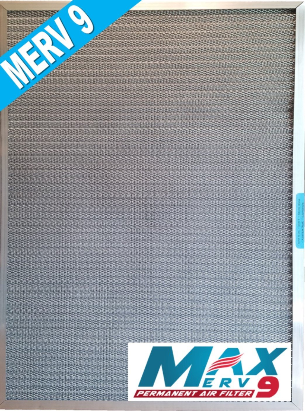5-Stage CERTIFIED MERV RATED Electrostatic Washable Permanent Furnace A/C Air Filter – The highest MERV rating of any lifetime filter - Traps particles including MOLD POLLEN SMOKE PET DANDER (16x25x1)