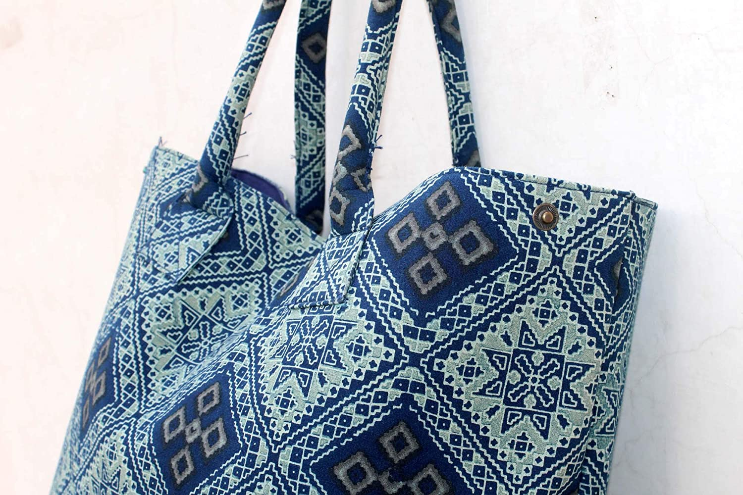 Handmade Womens Large Shopping Bag Boho Hand Bag Gypsy Hobo Bag Hand Block Printed Shoulder Bag