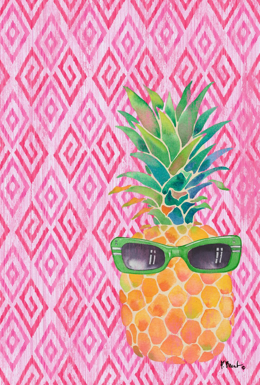 Toland Home Garden Summer Shades 28 x 40 Inch Decorative Colorful Cool Pineapple Sunglasses House Flag