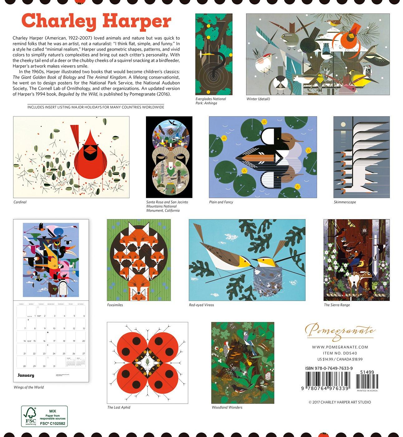 Charley Harper 2018 Wall Calendar: Charley Harper: 9780764976339:  Amazon.com: Books