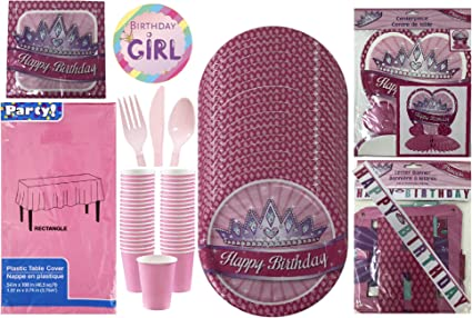 Amazon Com Birthday Princess Party Supplies And Decorations Set