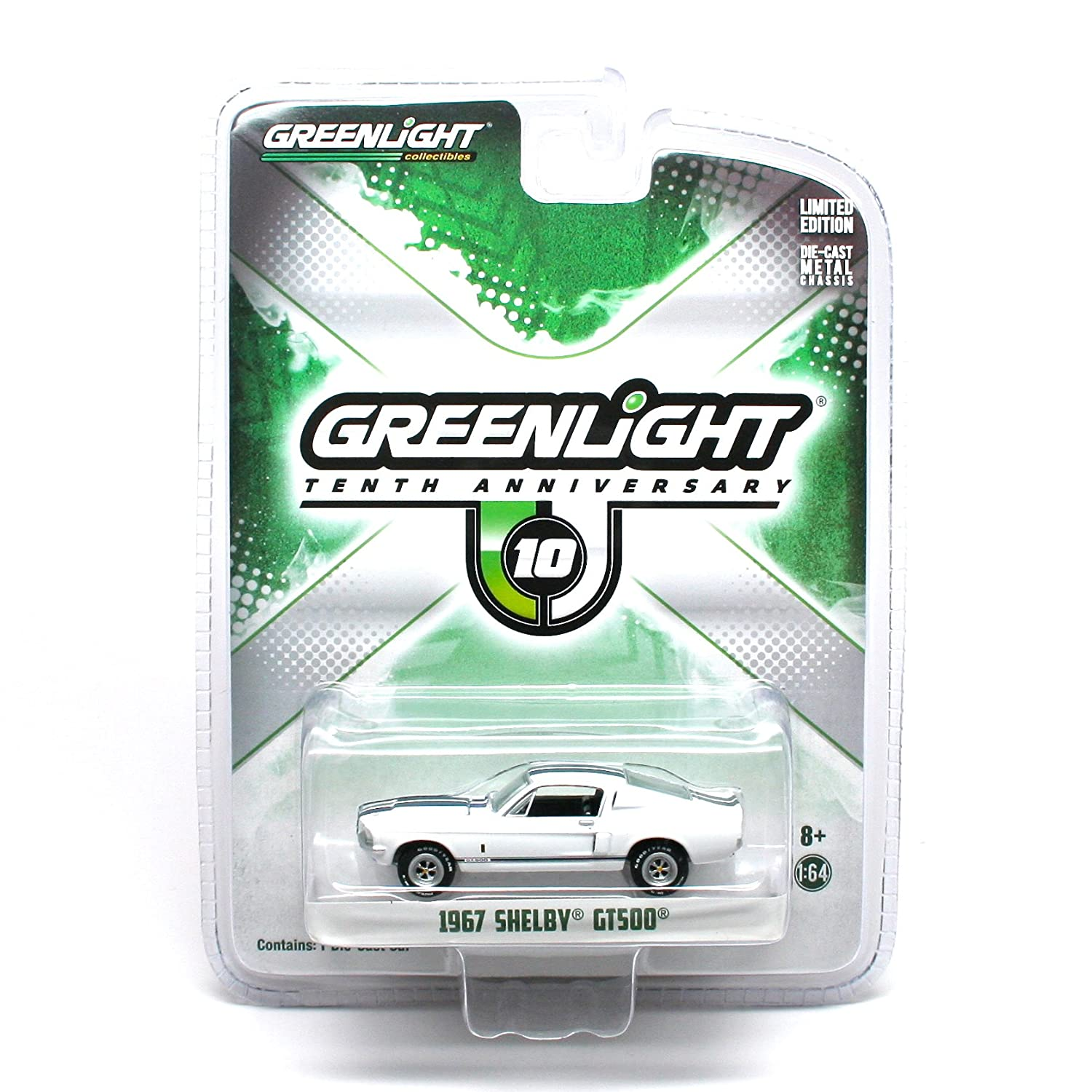alta calidad y envío rápido 1967 Shelby GT500 GT500 GT500  Greenlight 10th Anniversary  2014 GL Muscle Series 8 Greenlight Collectibles Limited Edition 1:64 Scale Die-Cast Vehicle by GL Muscle  salida de fábrica