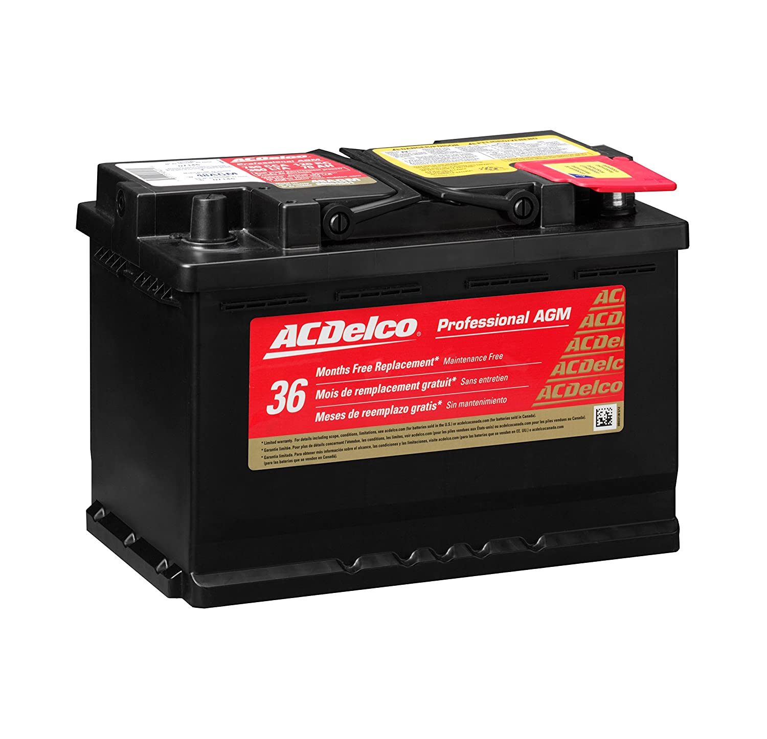 Ac Delco Battery >> Amazon Com Acdelco 48agm Professional Agm Automotive Bci Group 48