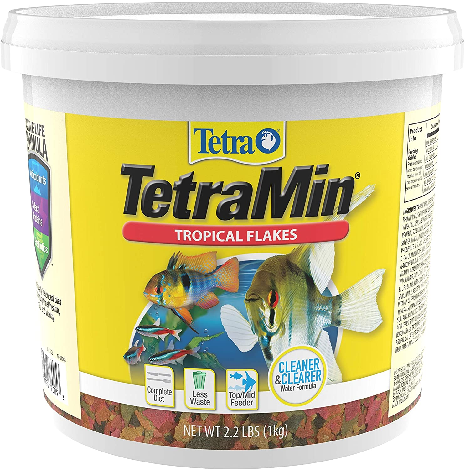Tetra TetraMin Tropical Flakes 2.2 Pounds, Nutritionally Balanced Diet For Aquarium Fish (77005)