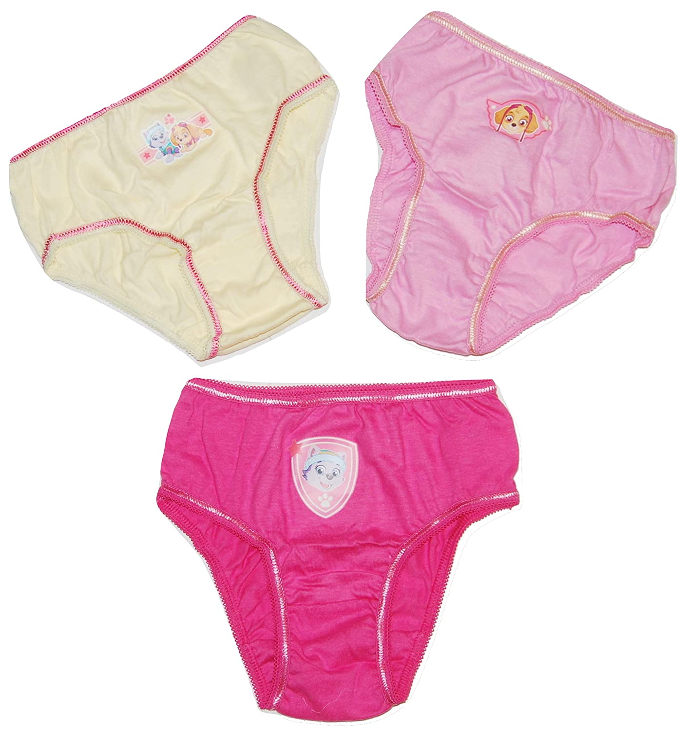Girls Paw Patrol Pants Knickers 3 Pack