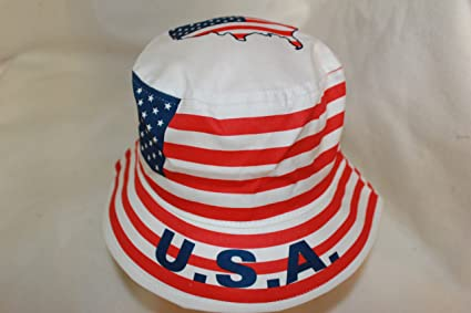 7 3//8 . NEW USA COUNTRY FLAG BUCKET HAT . ADULT SIZE