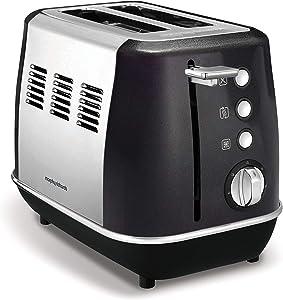 Morphy Richards Evoke 2 Slice Toaster 224405 Black Two Slice Toaster Stainless Steel Black Toaster 850 watts