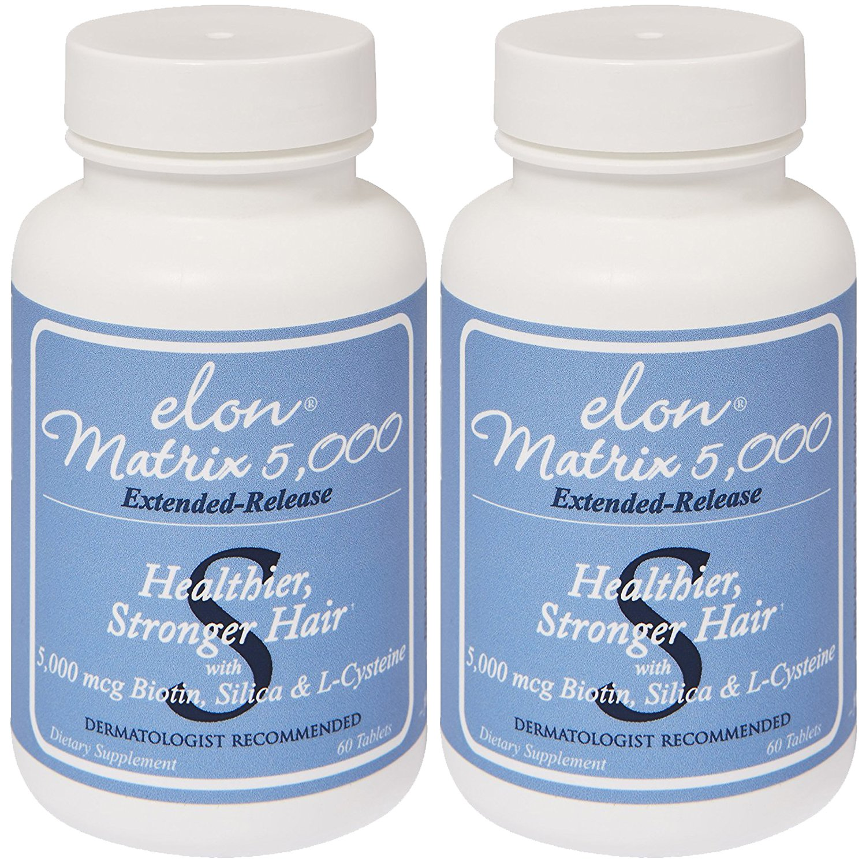 Elon Matrix 5,000 - Vitamin for Hair 60 capsules 2 Pack