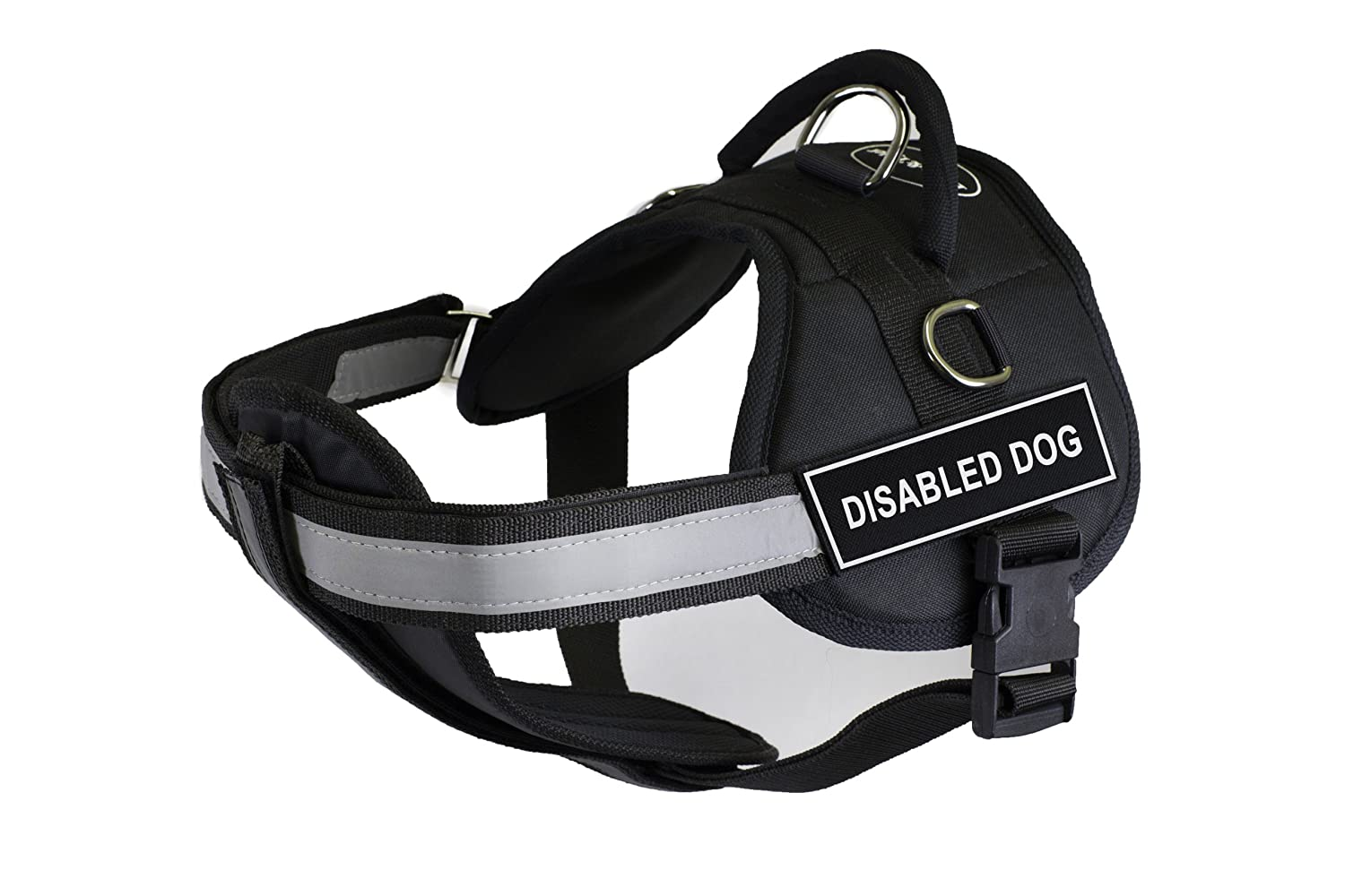Dean & Tyler 25-Inch to 34-Inch Pet Harness with Padded Reflective Chest Straps, Small, Disabled Dog, Black