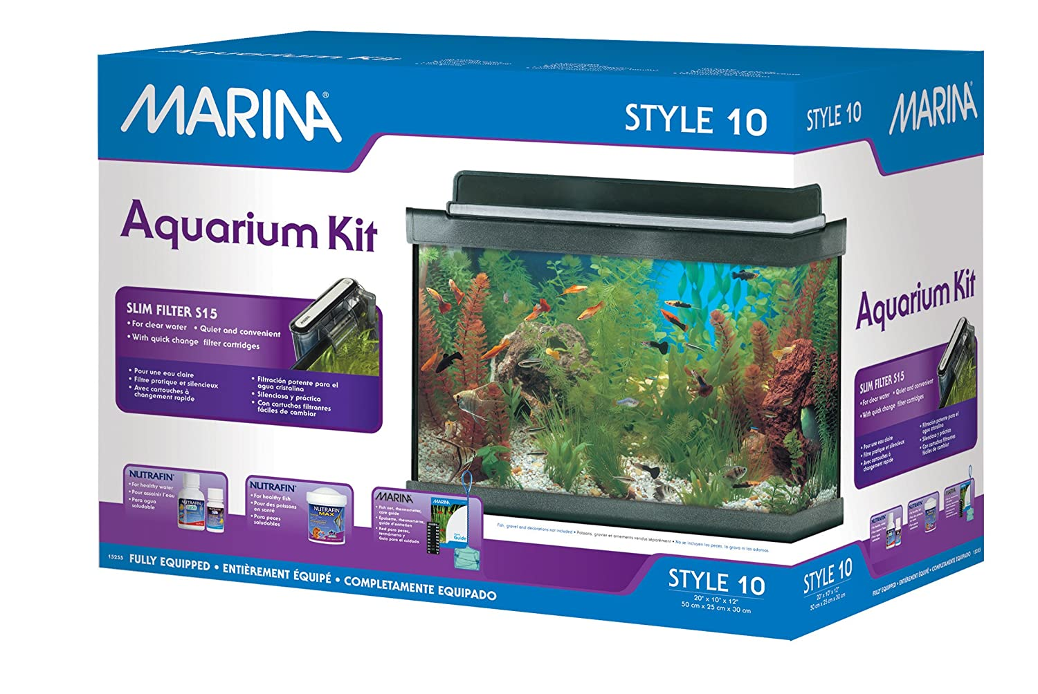Fish tank heater 10 gallon - Amazon Com Marina Style 10 Aquarium Kit 10 Gallons Aquarium Starter Kits Pet Supplies