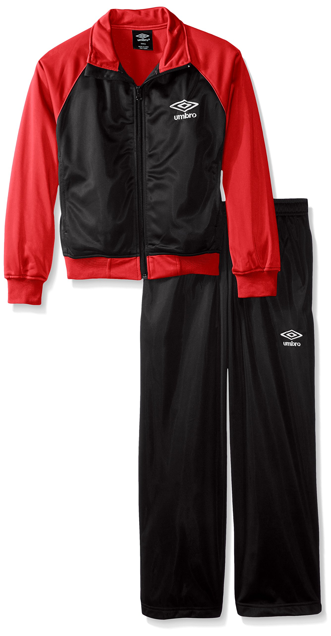 Umbro Boys' Big Warmup Suit, Black, X-Large