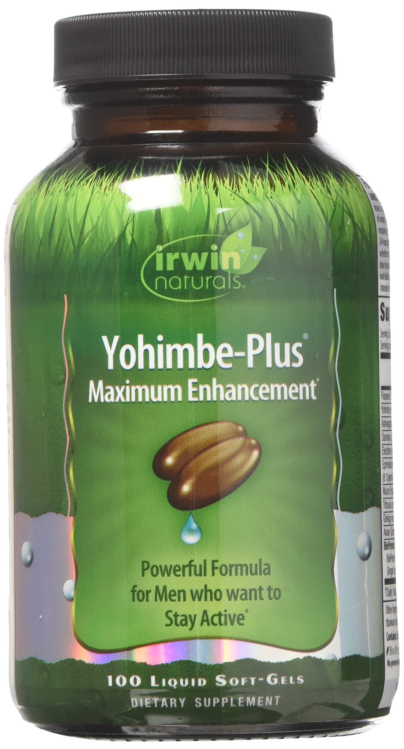 Irwin Naturals Advanced Yohimbe Plus Dietary Supplement Liquid Gel Caps, 100-Count Bottles (Pack of 2)