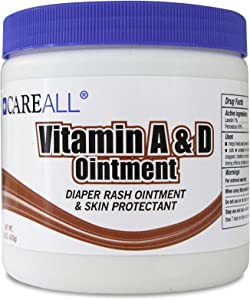 CareALL 15oz Tub Vitamin A&D Ointment with Lanolin Diaper Rash and Skin Protectant