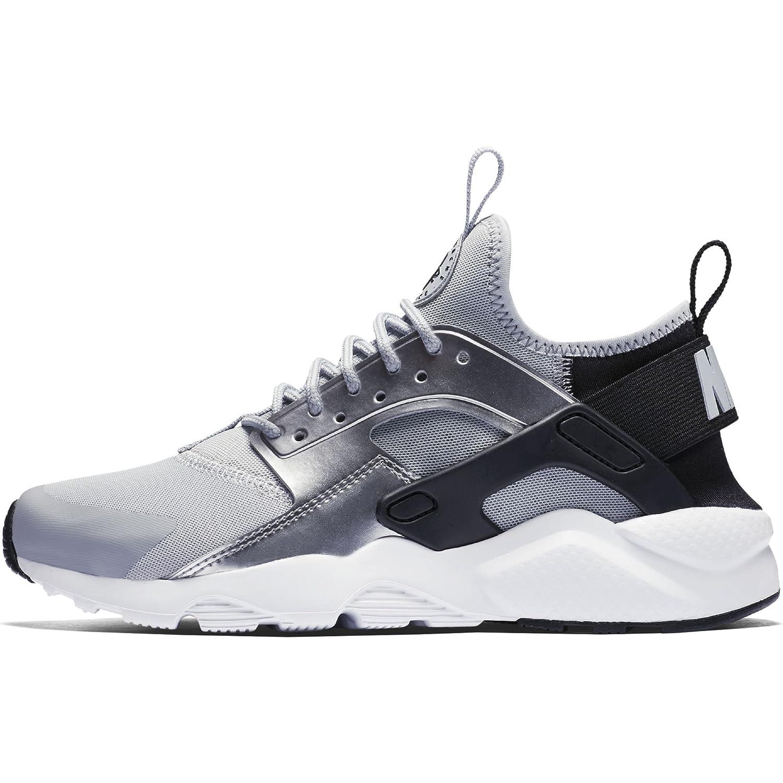 b0200a6bb987d Nike Girls' Air Huarache Run Ultra (GS) Shoe Black/Wolf-Grey-Metallic  silver 7