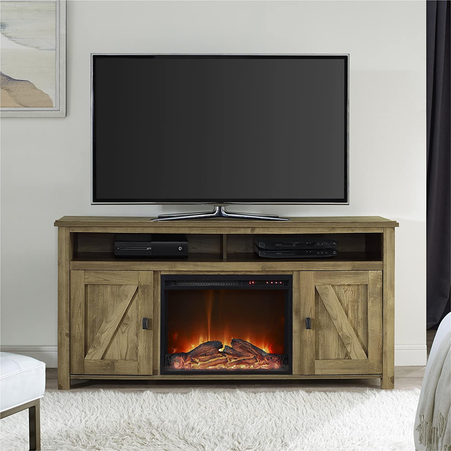 electric parkdale fireplace stand cheap gray tv mocha