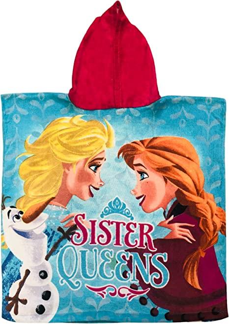 Disney Frozen//The Ice Queen Part 1 or 2 BATH TOWEL PONCHO Hooded Towel