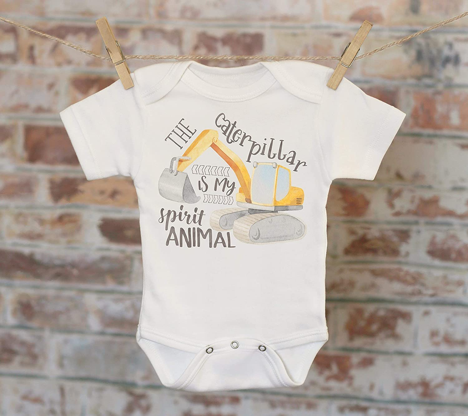 The Caterpillar Is My Spirit Animal Onesie®, Tractor Onesie, Funny Onesie, Cute Onesie, Cute Baby Bodysuit, Boho Baby Onesie
