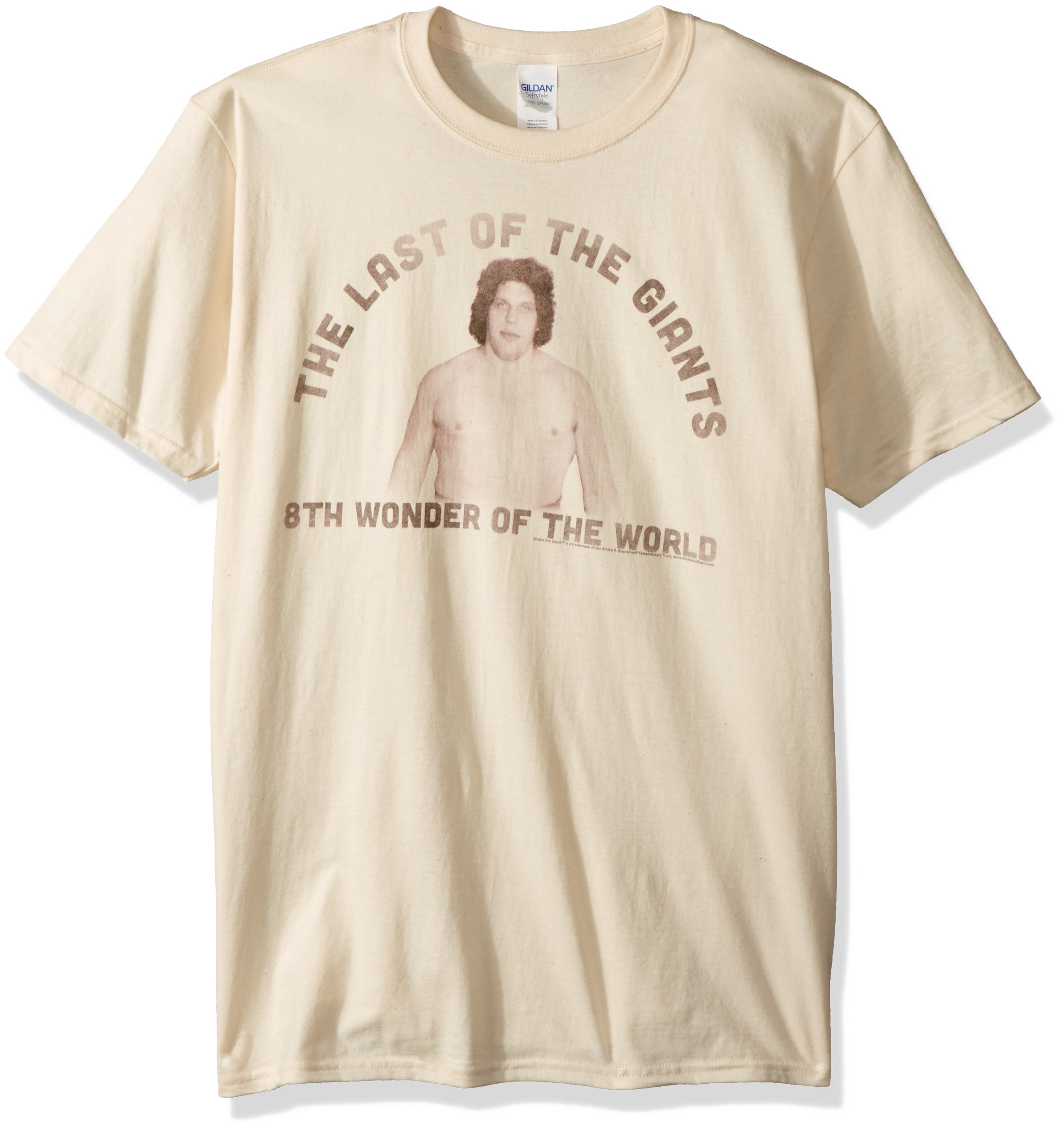 American Classics Unisex-Adults Andre The Giant Big Short Sleeve T-Shirt, Sand, Large