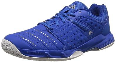 check out d0da4 caeea adidas Herren Court Stabil 12 Handballschuhe Blau (BlueSilver Met.Ftwr  White