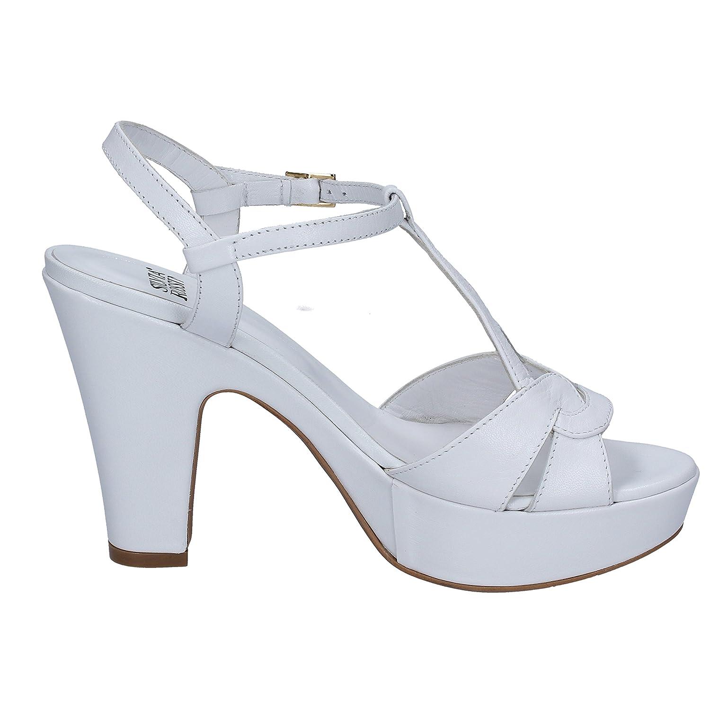 Damen Sandalen Weiß Bianco, Weiß - Bianco - Größe: 36 Silvia Rossini