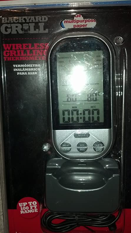 Merveilleux BACKYARD GRILL WIRELESS GRILLING THERMOMETER   UP TO 100 FT RANGE By Backyard  Grill