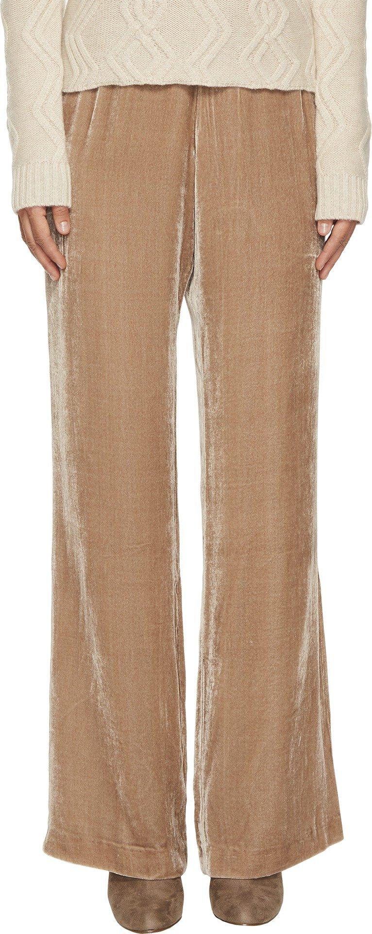 Cashmere In Love Women's Velvet Pants Nude Medium