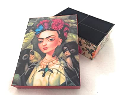 a box of frida kahlo stationary and decorative box