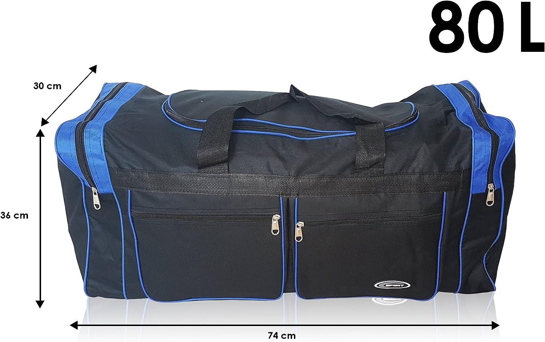 Bolsa XL De Deporte Extra Grande De 80 Litros. Maleta Para Deporte, Gimnasio, Viaje, Camping Y Almacenaje