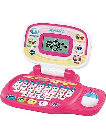 VTech - Peque Ordenador Educativo Infantil, Color Rosa, versión española (3480-155457