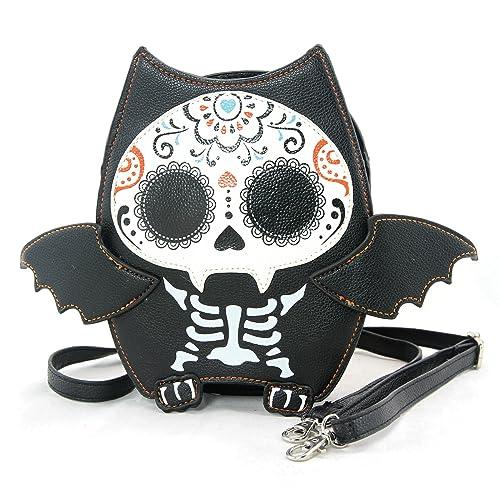 a485bec6a Sleepyville Critters - Sugar Skull Bat Crossbody Bag in Vinyl Material:  Amazon.ca: Shoes & Handbags