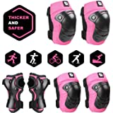 DaCool Knee Pads Set for Kids Elbow Pads Wrist Guards for 3~10 Ages Toddler Protective Gear Set Thicker Safer Bike…