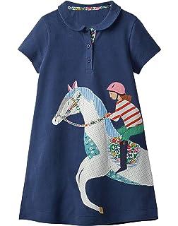 5384dc3f9b9b Fiream Toddler Girls Cotton Longsleeve Casual Dresses Applique Cartoon