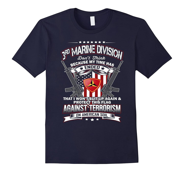 3rd Marine Division Veteran Vintage T-Shirt-Vaci