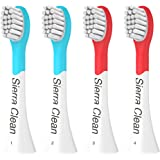 Sierra Clean Premium Compact Replacement Toothbrush Heads for Philips Sonicare Kids HX6034, 4 pack