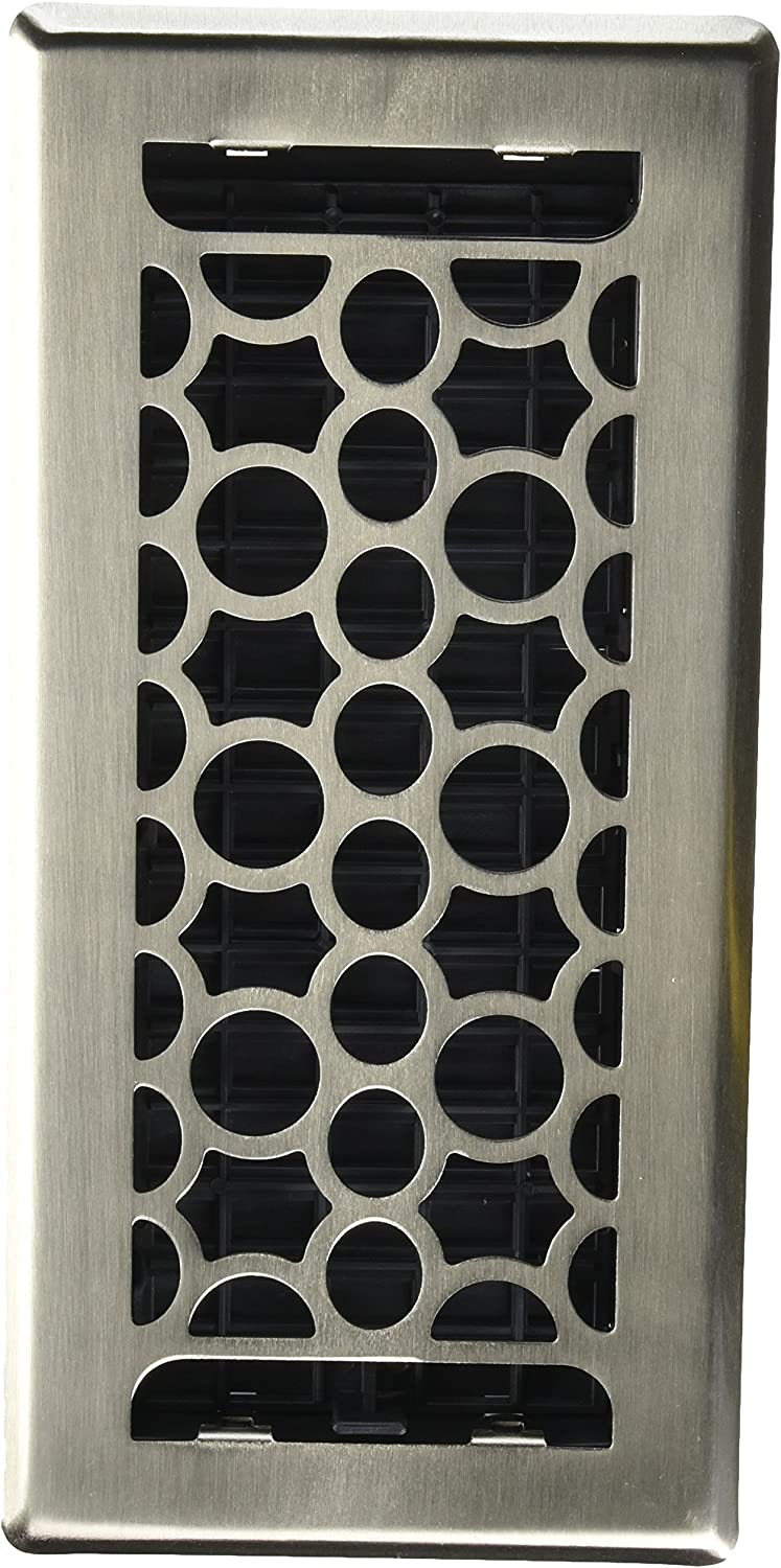 Decor Grates HCH410-NKL Honeycomb Plated Floor Register Nickel 4-Inch by 10-Inch