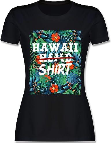 hawaii t-shirt damen bunt
